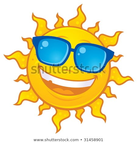 Foto stock: Verano · sol · gafas · de · sol · vector · Cartoon