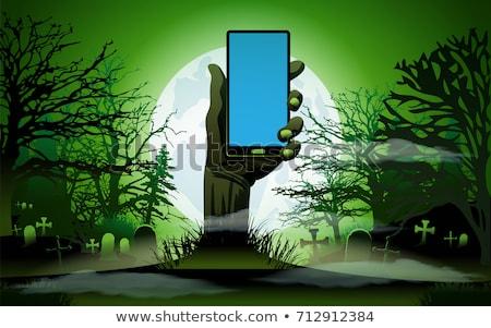 Zombie mano telefono chiaro di luna business Foto d'archivio © graphit