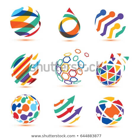 Stock photo: Social Network Icon on Multicolor Puzzle.