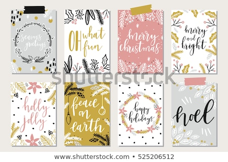 Merry Christmas card with candle, vector illustration stock photo © carodi