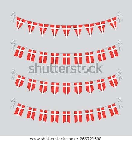 Ribbon banner - danish flag Stock photo © StockwerkDK