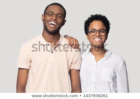 maravilhado · cara · surpreendido · jovem · pessoa · preto - foto stock © hasloo