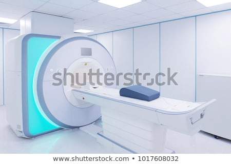 Stock fotó: Blue Tone Of Beds And Machines In Hospital