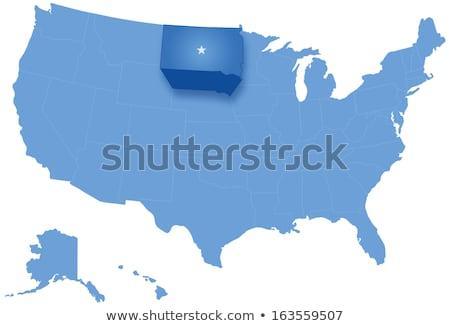 Dél-Dakota · skicc · ikon · szett · térkép · Egyesült · Államok - stock fotó © istanbul2009