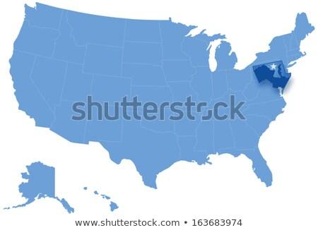 карта Соединенные Штаты Мэриленд из политический Сток-фото © Istanbul2009