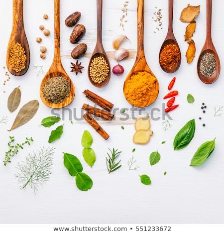 Stock photo: Lime, cinnamon,star anise, and nutmeg