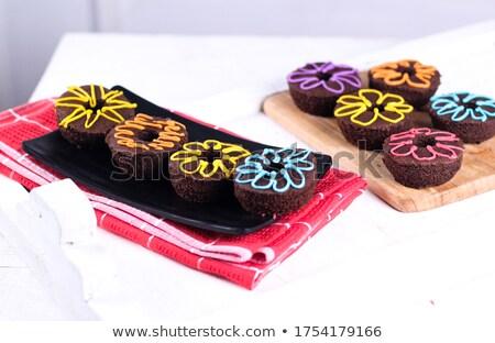 Homemade donuts on a plate Stock photo © marekusz