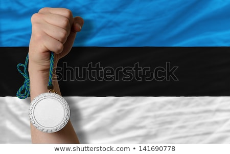 серебро медаль спорт флаг Эстония Сток-фото © vepar5