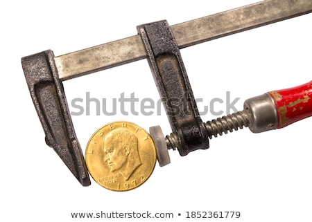 Gold coin in clamp concept Stock photo © Krisdog