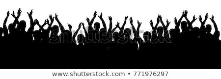koncertu · publiczności · widok · z · tyłu · ilustracja · muzyki - zdjęcia stock © derocz