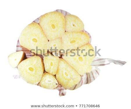 Alho bulbo isolado branco fruto Foto stock © natika