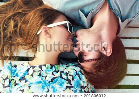 doce · beijo · criador · retrato · beautiful · girl · beijando - foto stock © Fisher