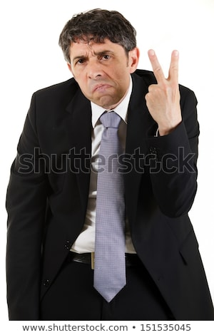 Man making a rude 'V' sign Stock photo © michaklootwijk