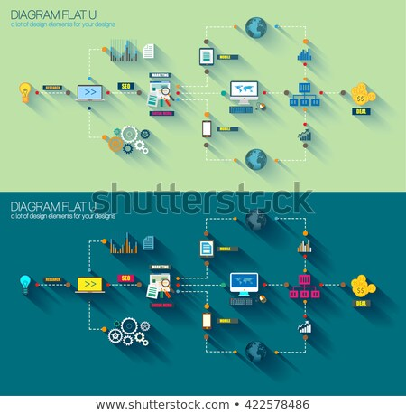 Stile diagramma infografica ui icone business Foto d'archivio © DavidArts