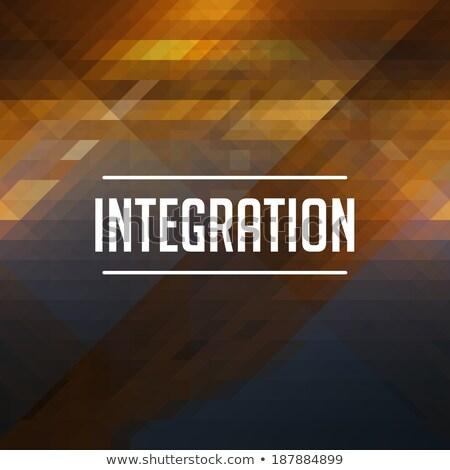 Intégration rétro triangle design couleur Photo stock © tashatuvango