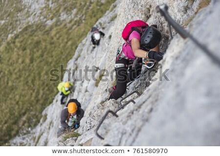ハイカー 女性 島 イタリア 自然 岩 ストックフォト © Antonio-S