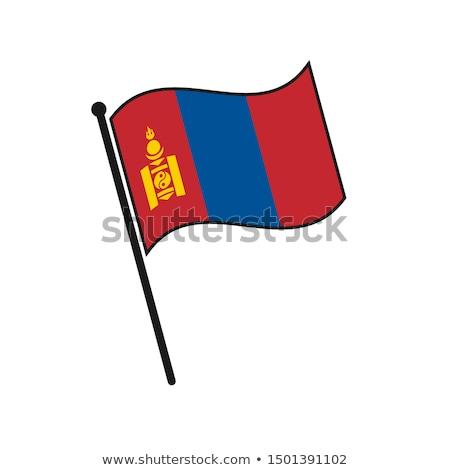 Монголия небольшой флаг карта избирательный подход фон Сток-фото © tashatuvango