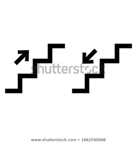 Fehér lépcsőfeljáró 3D generált kép épület Stock fotó © flipfine