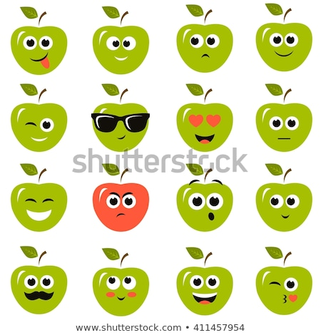 cartoon fruits and vegetables with facial expressions set stock photo © voysla