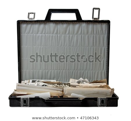 boekenkast · vol · papier · document · documenten - stockfoto © loopall