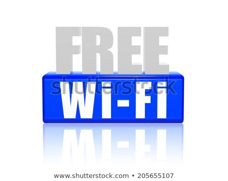 free wi fi in 3d letters and block stock photo © marinini