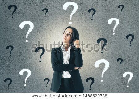 Karrier kérdés kérdések üzleti stratégia személy áll Stock fotó © Lightsource