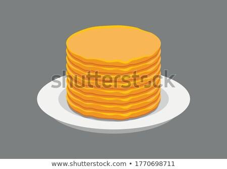 スタック 朝食 デザート ジャム 調理済みの ストックフォト © M-studio