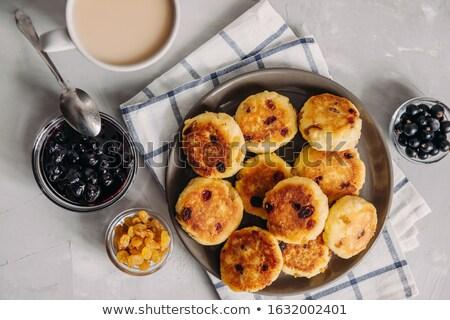 Curd pancakes Stock photo © yelenayemchuk