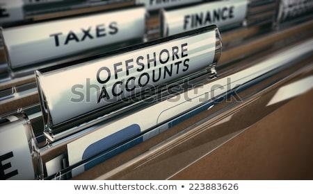налоговых · острове · деньги · монетами · листьев - Сток-фото © lightsource