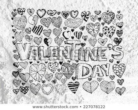 heart drawing and valentines day hearts for your works Stock photo © kiddaikiddee