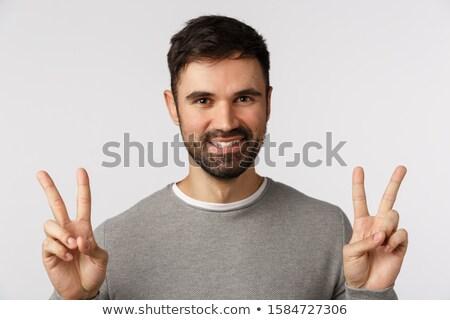 gülen · kafkas · adam · kafa · keçi · sakalı · yalıtılmış - stok fotoğraf © feedough