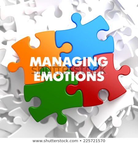 Managing Emotions on Multicolor Puzzle. Stock photo © tashatuvango