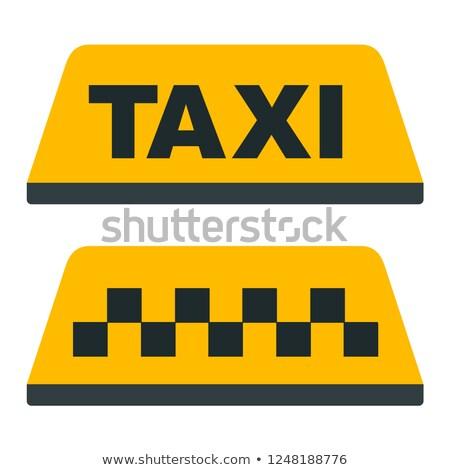 такси такси автомобилей крыши знак Сток-фото © stevanovicigor