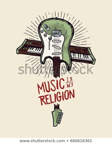 Muziek mijn godsdienst roze Papierstructuur papier Stockfoto © maxmitzu