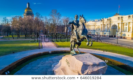 Bronze horseman - statue of Peter the Great in St. Petersburg Stock photo © mahout