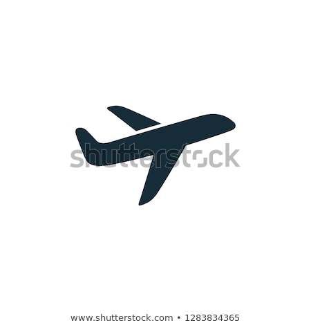 egyszerű · repülőgép · repülőgép · ikon · vektor · illusztráció - stock fotó © Mr_Vector