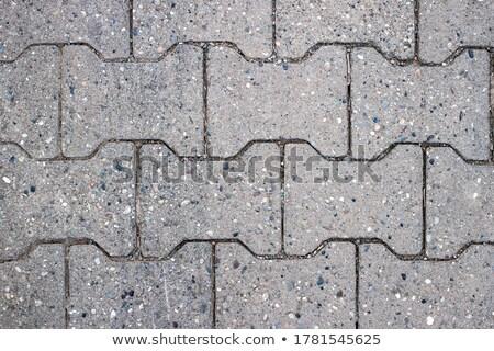 gray pavement slabs in the polygonal shape stock photo © tashatuvango