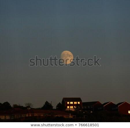 Pier ciel nature lune crépuscule Photo stock © suerob