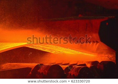 hot steel on conveyor Stock photo © mady70
