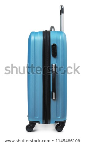 blue modern travel suitcase isolated on white stock photo © rufous