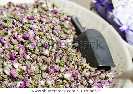 Small flowers, dried roses exposed for sale  Stock photo © marekusz