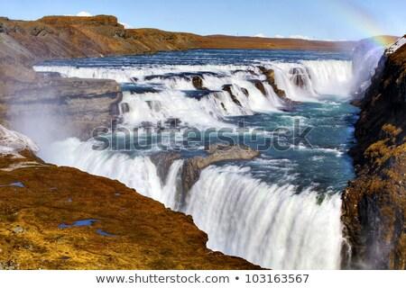 or · cascade · Rainbow · Islande · eau · nuages - photo stock © 1Tomm