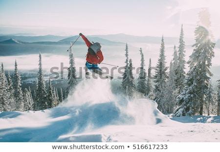 фристайл · лыжных · Blue · Sky · облака · небе · крест - Сток-фото © smuki