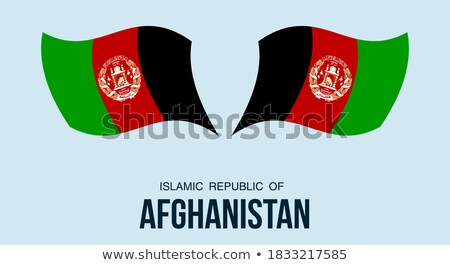 карта флаг кнопки республика Афганистан Сток-фото © Istanbul2009