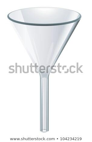 Glas trechter chemie Blauw medische laboratorium Stockfoto © erierika