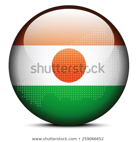 Map with Dot Pattern on flag button of Republic  Niger Stock photo © Istanbul2009