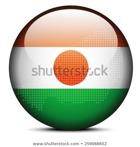 Pokaż · banderą · przycisk · federalny · republika · Nigeria - zdjęcia stock © istanbul2009
