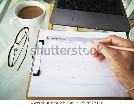 Desk in home office - January Stock photo © CaptureLight