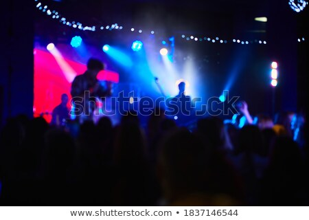 Blur Defocused Silhouettes of Young People on DJ Concert Stock photo © stevanovicigor