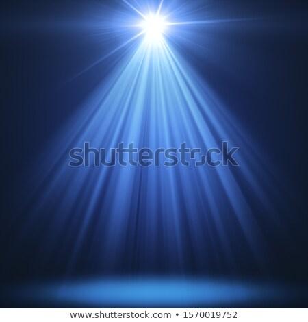 3d winter in blue rays stock photo © marinini